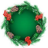 Christmas wreath for the text Stock Image