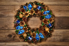Christmas wreath top view Stock Image