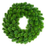 Christmas wreath undecorated isolated on white Royalty Free Stock Images