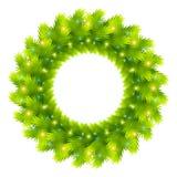 Christmas wreath vector Royalty Free Stock Image