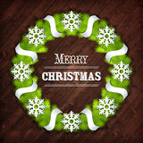 Christmas wreath vector Stock Images
