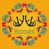 Christmas wreath vector Stock Photos