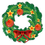Christmas wreath vector. Stock Images
