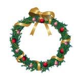 Christmas wreath vector illustration