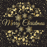 Christmas wreath vector illustration. Merry Christmas congratulations. Christmas wreath vector illustration. Merry Christmas Stock Image