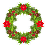 Christmas wreath vector Royalty Free Stock Images