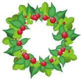 Christmas wreath vector Royalty Free Stock Photo