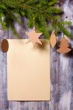 Christmas wreath on wall Royalty Free Stock Image