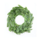 Christmas Wreath on White Royalty Free Stock Photo