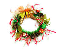 Christmas wreath on white background Royalty Free Stock Image