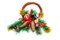 Christmas wreath on white background Stock Image
