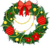 Christmas wreath. On a white background Royalty Free Stock Photography