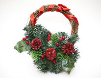 Christmas wreath. On white background Stock Images