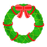 Christmas wreath  on white background. Royalty Free Stock Photography
