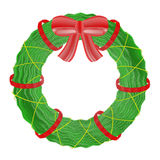 Christmas wreath  on white background. Stock Photo