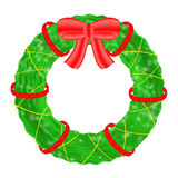 Christmas wreath  on white background. Royalty Free Stock Photo