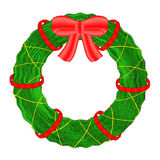 Christmas wreath  on white background. Royalty Free Stock Photos