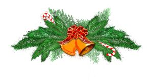 Christmas wreath on a white background. royalty free stock photography