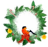 Christmas wreath on a white background. royalty free stock image