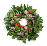 Christmas wreath. On white background close up Royalty Free Stock Image