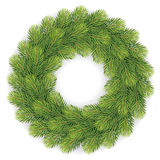 Christmas wreath with white background Stock Images