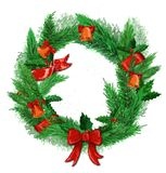 Christmas wreath on a white background. royalty free stock photo