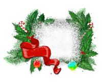 Christmas wreath on a white background. stock photos