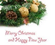 Christmas wreath on white background New Year Royalty Free Stock Photos