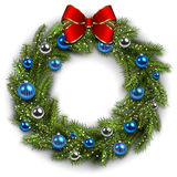 Christmas wreath on white Royalty Free Stock Photography
