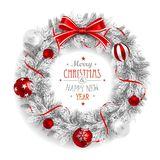 Christmas Wreath White Royalty Free Stock Photography