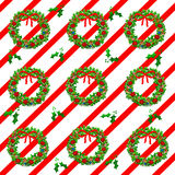 Christmas wreath wrappings Stock Photography