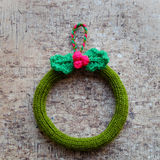 Christmas wreath, Xmas decoration holiday Stock Photos