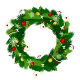 Christmas wreath for your design Stock Photography