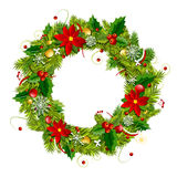 Christmas wreath for your design Stock Images