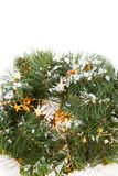 Christmas wreaths. Withgolden stars on the white background Royalty Free Stock Images