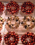 Christmas wreaths Christmas balls. In the shop Royalty Free Stock Photos
