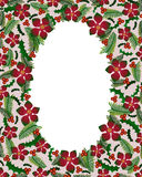 Christmas wreaths frame Stock Photography