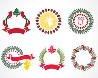 Christmas wreaths Royalty Free Stock Photo