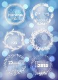 Christmas wreaths Stock Photography
