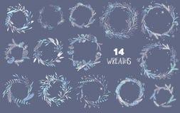 Christmas wreaths set. Royalty Free Stock Image