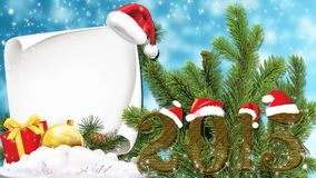 Christmas 2015 vector illustration