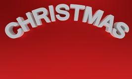 Christmas written on a red background, 3d rendering. Christmas written on a red background, 3d render Stock Photography