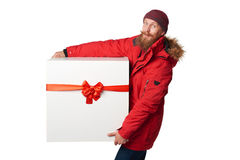 Christmas, x-mas, winter gift concept Stock Photos