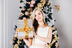 Christmas, x-mas, winter, happiness concept - Stock Photos