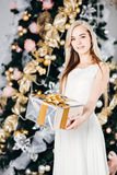 Christmas, x-mas, winter, happiness concept - Stock Photo