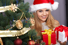 Christmas, x-mas, winter, happiness concept Royalty Free Stock Photos