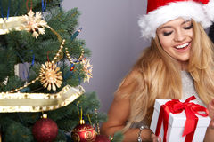 Christmas, x-mas, winter, happiness concept Stock Images