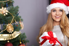 Christmas, x-mas, winter, happiness concept Royalty Free Stock Photography