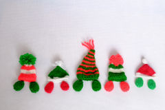 Christmas, Xmas alphabet, handmade, knitted, noel gift Royalty Free Stock Images