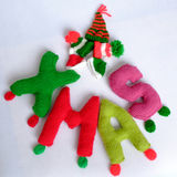 Christmas, Xmas alphabet, handmade, knitted, noel gift Royalty Free Stock Photography